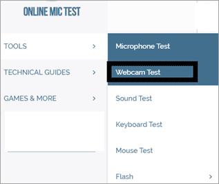 select Webcam Test