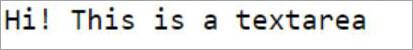 textarea tag output