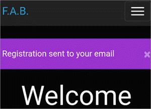 Registration Confirmation Message