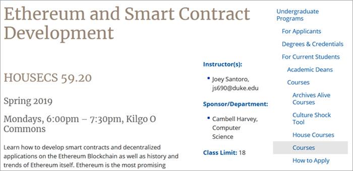 Ethereum and smart contract development