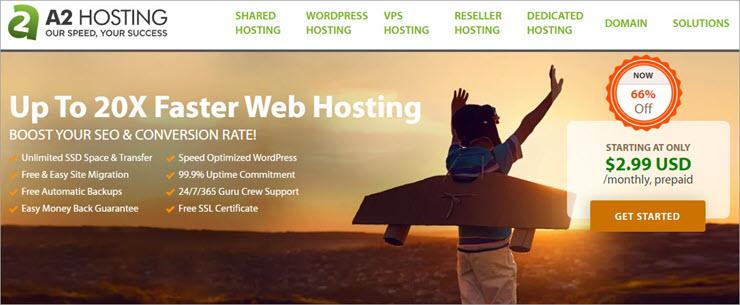 A2 Hosting Website