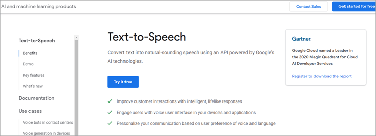 GoogleText to Speech