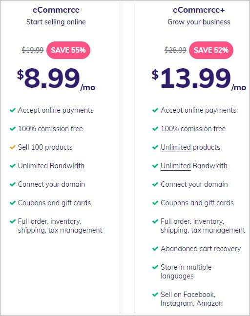 Hostinger Pricing eCommerce Hosting