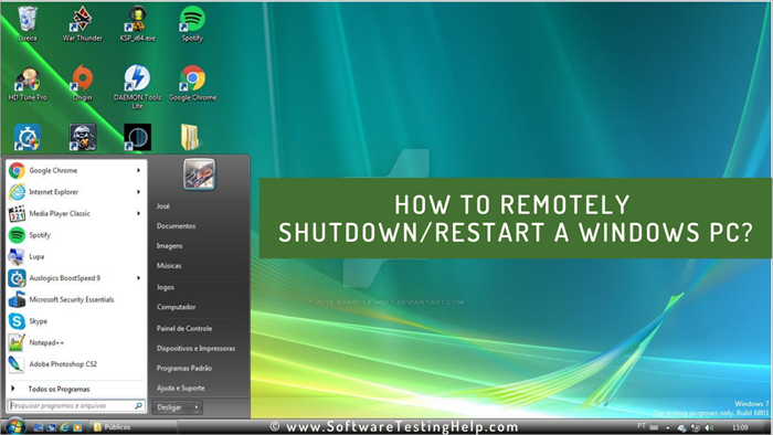 How to Remotely Shutdown or restart a Windows PC