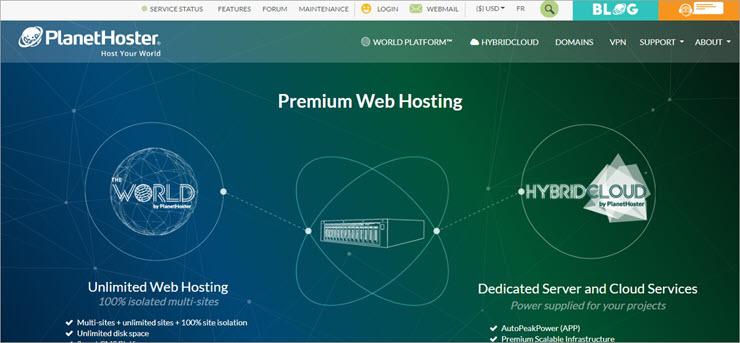PlanetHoster Website