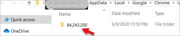 Software Reporter tool folder