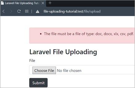Uploading an image file