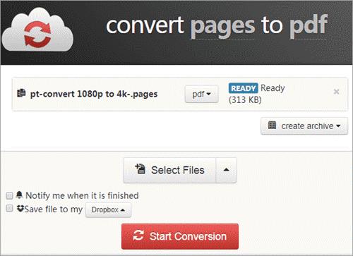 Start Conversion