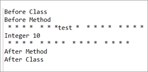 Expected output JUnit4