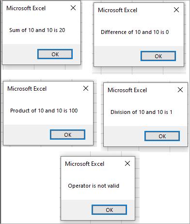 Select Case - Output