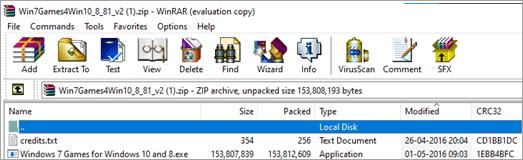 Download Windows 7 Games