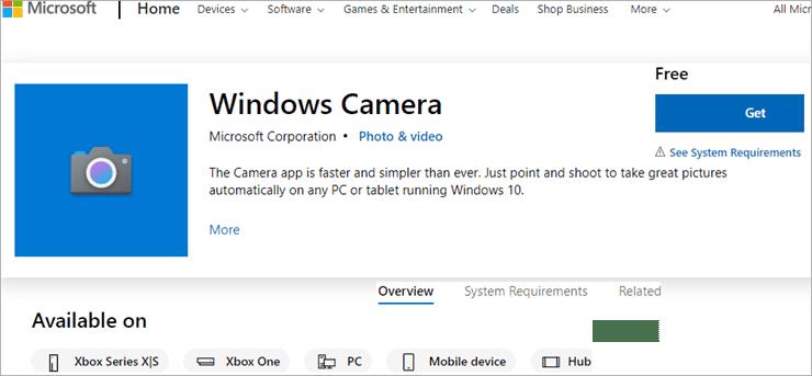 Windows Camera 1