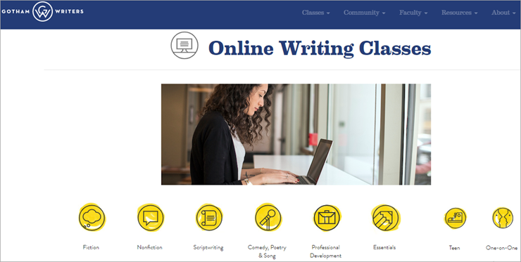 professional creative writing writer website for school