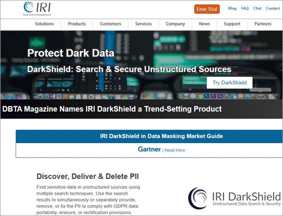 IRI DarkShield Dashboard
