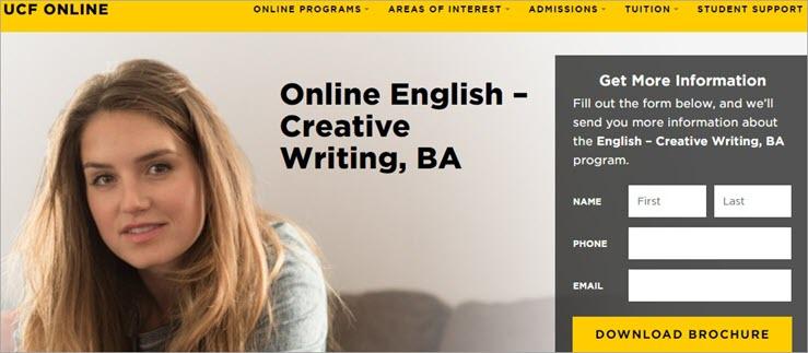 Online English Creative Writing Degree: University of Central Florida