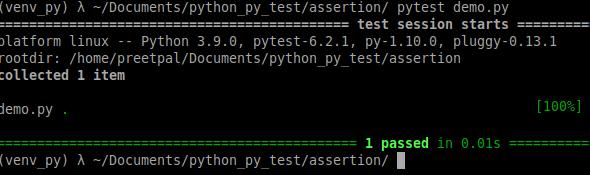 correct program - assertion