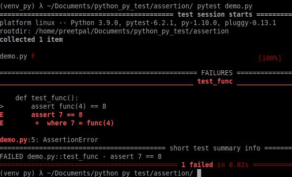 Assertion error is thrown