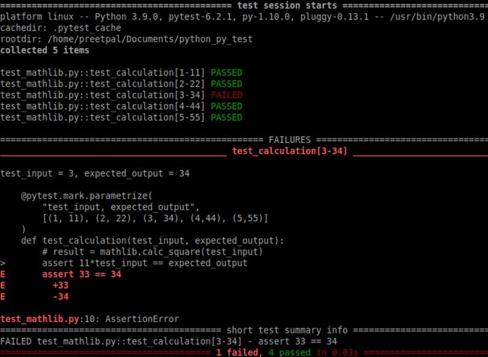 parametrization error