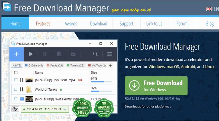 free downlod manager