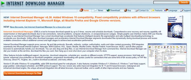 internet downlod manager