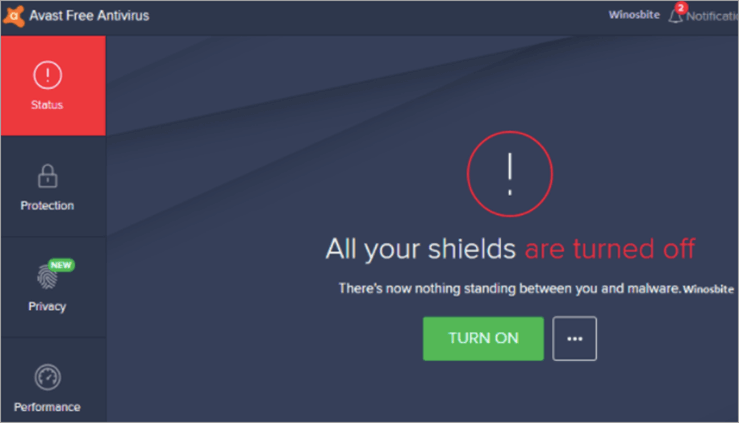 Shields are turned off Prompt