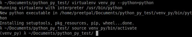 activate the virtual env run