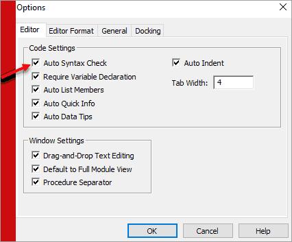 Auto Syntax Check