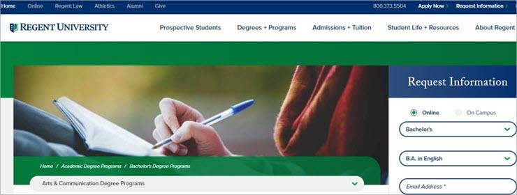 Online Writing Degree: Regent University