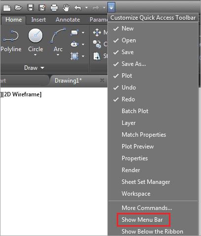 show menubar