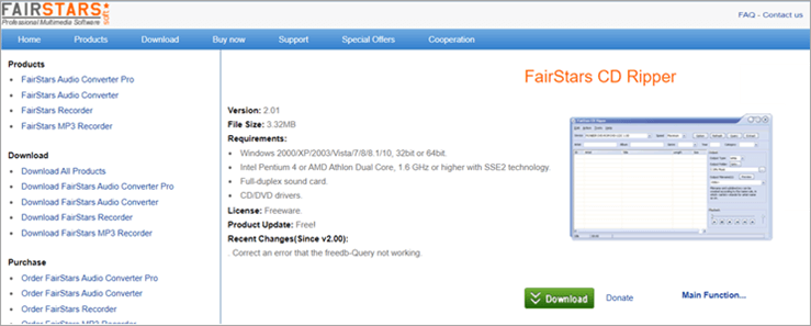 FairStars CD ripper