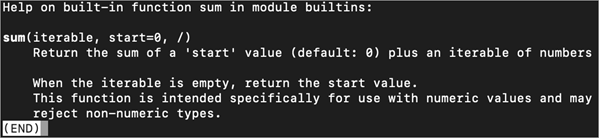 access docstring using the built-in help() function