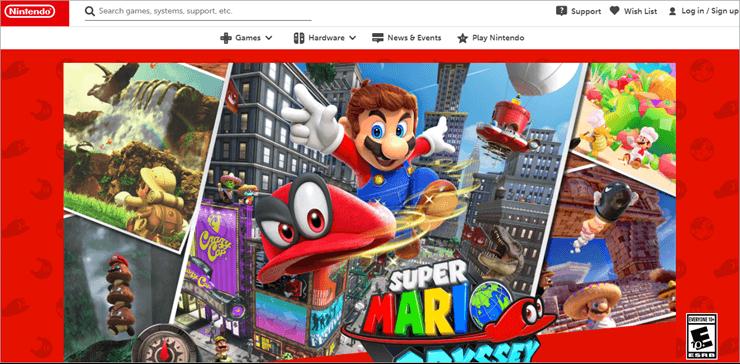 Super Mario odyssey - best switch games
