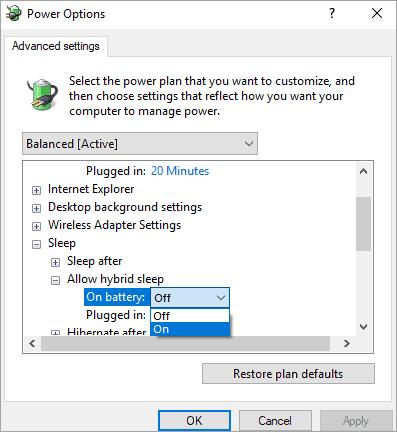 Allow Hybrid Sleep - Sleep Vs Hibernate In Windows