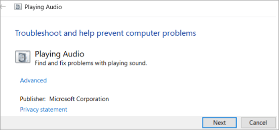 Find and fix audio playback problems