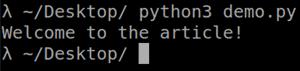 python example
