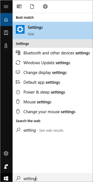 Search Bar - Settings