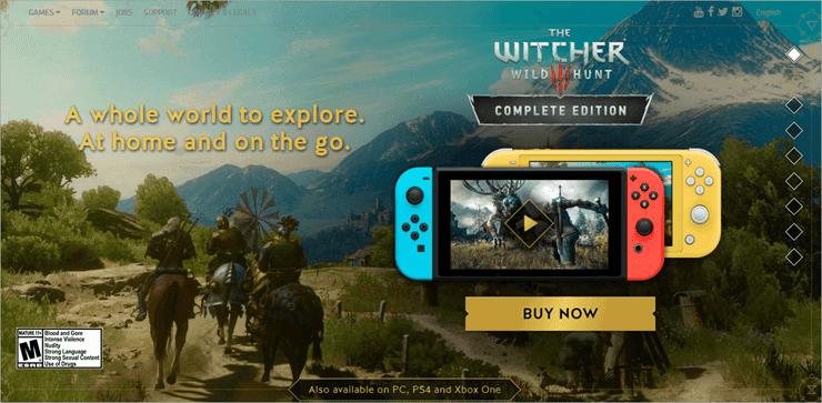 The Witcher 3: Wild Hunt - best switch games