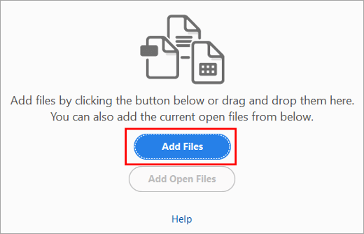 ''Add Files'' - How To Combine PDF files