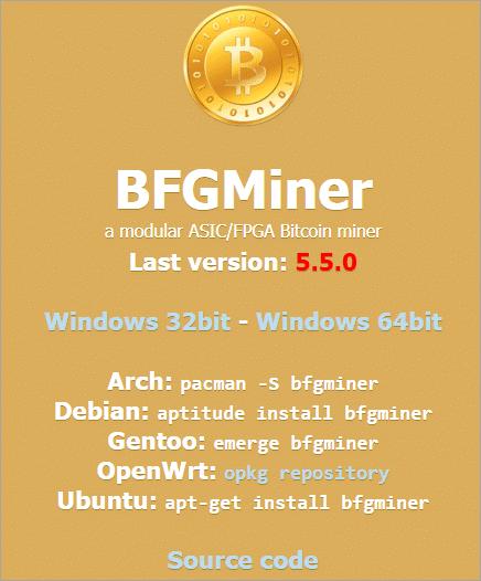 BFGMiner - software di mining bitcoin