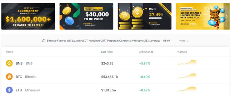 Binance - Bester Kryptowährungsaustausch