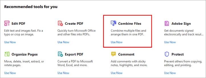 'Combine Files'