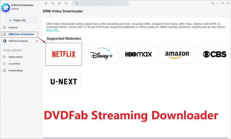 DVDFab Dashboard