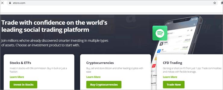 Etoro - Die besten Kryptowährungsbörsen