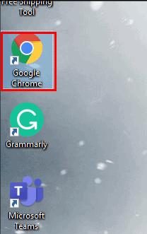 Double click on Google Chrome icon