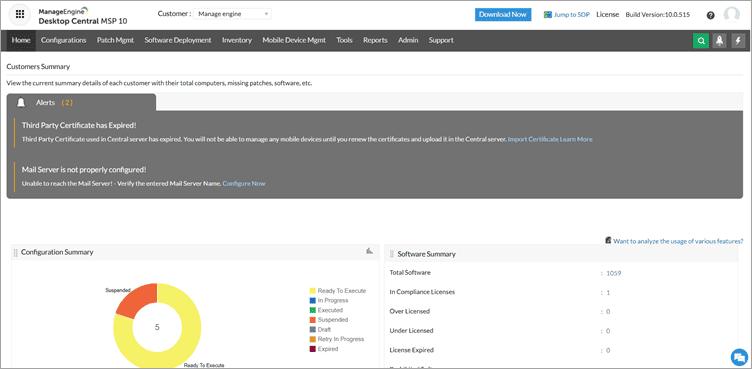 ManageEngine Desktop Central MSP