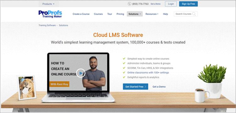ProProfs LMS Dashboard