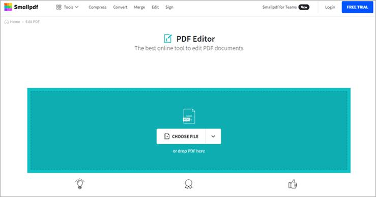 Smallpdf - Edit Page - Edit A PDF File Online
