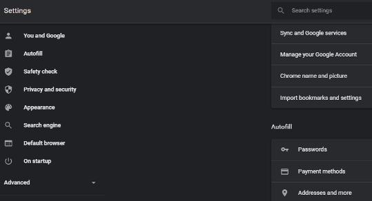 settings dialog box - PDF Not Opening In Chrome
