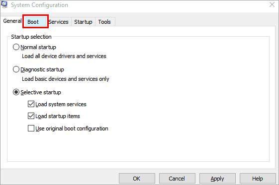 boot option