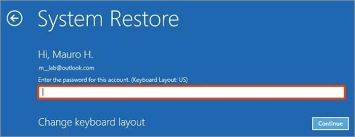 Enter credentials - Critical Process Died Windows 10 Error